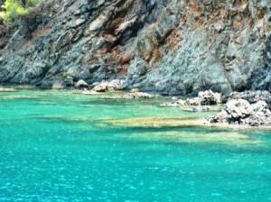 kemer blauw zee
