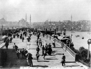 Oude foto van de brug