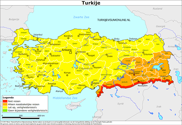 reisadvies turkije